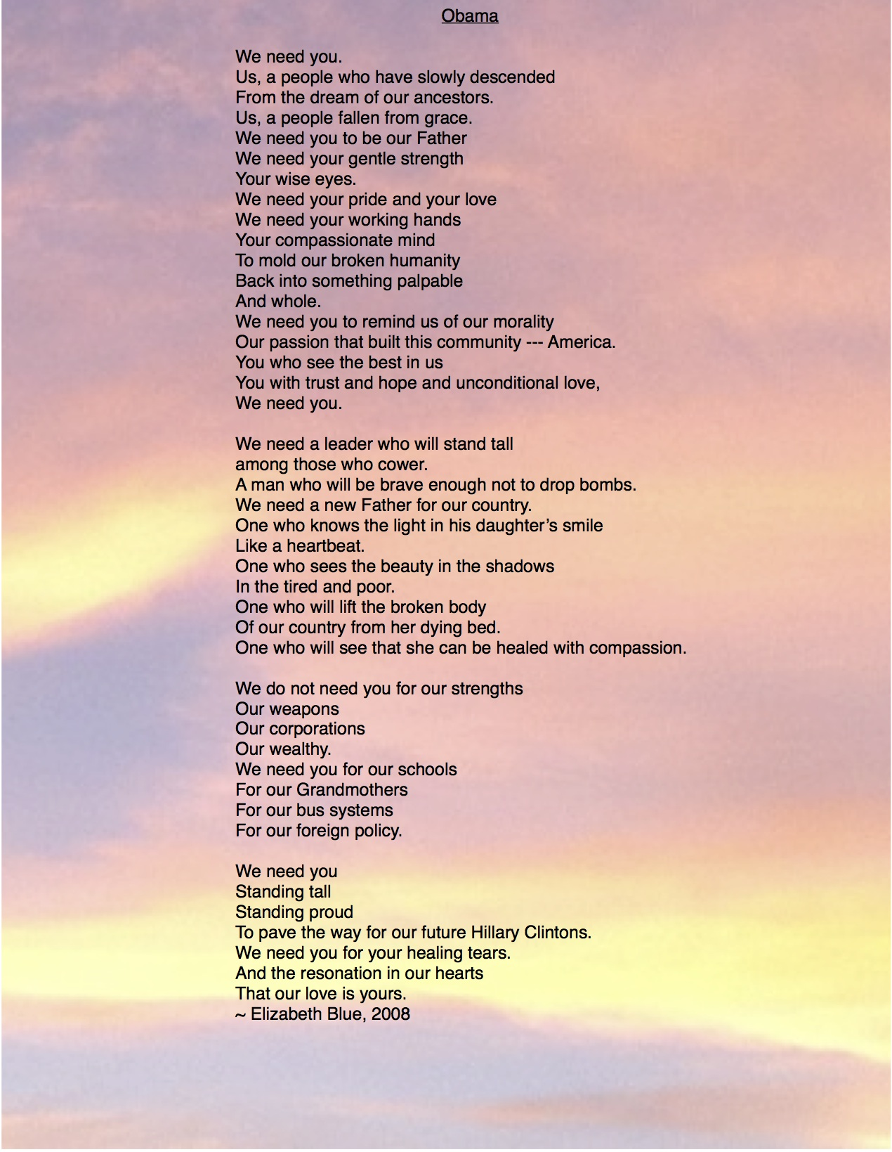 I Needed You Poems 2