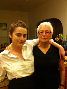 Elizabeth Blue with Grandma