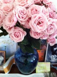 roses, altar, Elizabeth Blue,