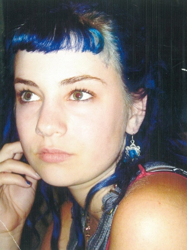 Elizabeth Blue, punk rock, blue hair,