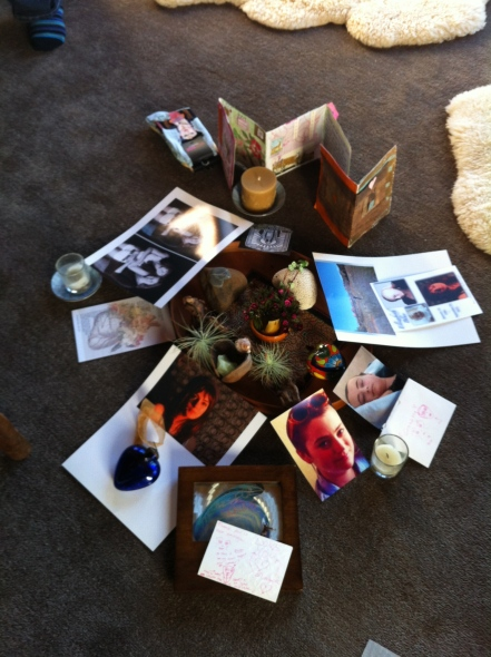birthday altar, Elizabeth Blue, Elizabeth Meagher