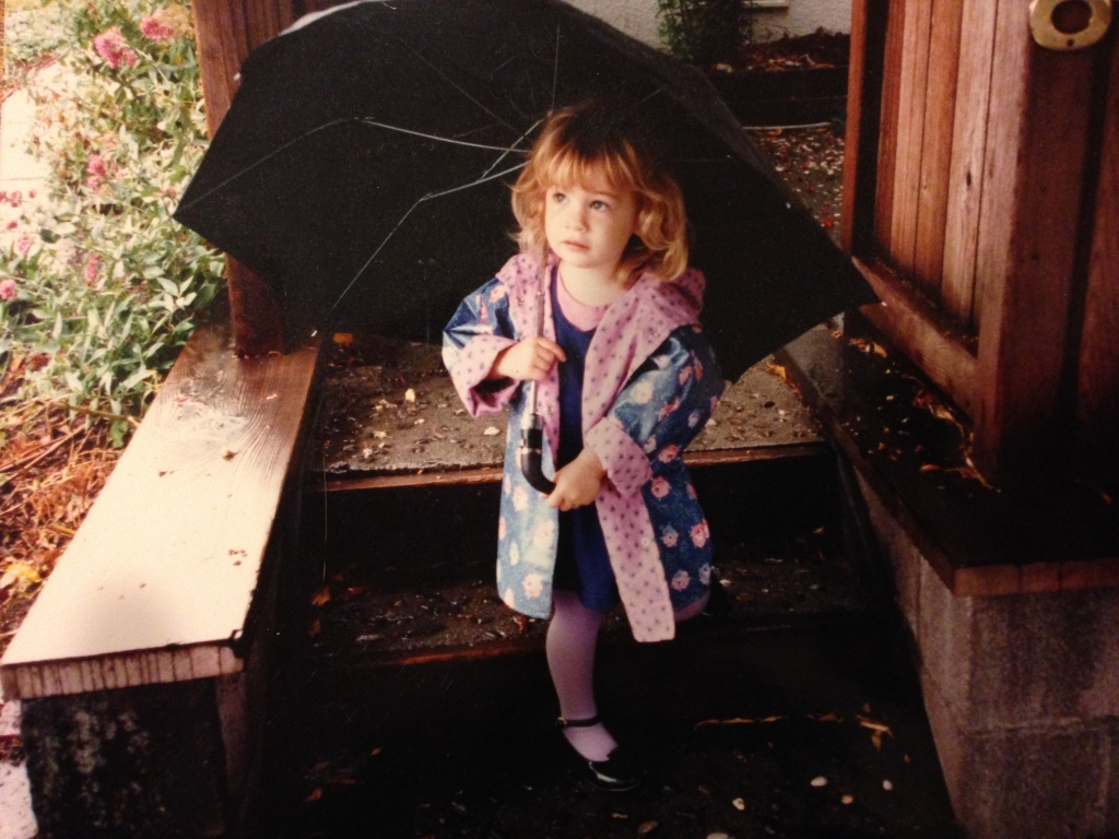 Elizabeth Blue, Elizabeth Meagher, umbrella, rain