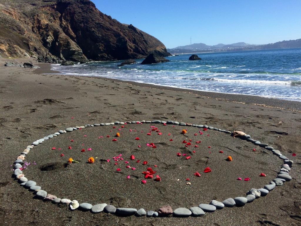 Marin Headlands, Elizabeth Blue, Lucia Maya, altar
